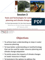 Tools and Technologies for Water Resources Planning and Climate Change Adaptation