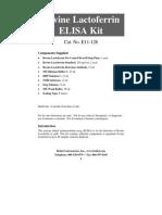 Bovine Lactoferrin ELISA Kit