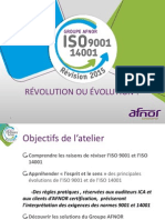 EVOLUTION ISO 9001 & 14001 en 2015