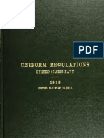 (1917) Uniform Regulations United States Navy