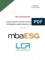 Thèse Professionnelle MBA Spécialisé Communication et évenementiel