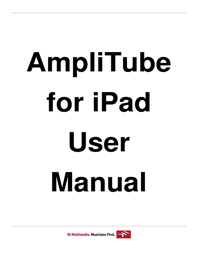 amplitube 3 2 0 ipad user manual 1 equalization audio headphones rh scribd com iPad User Manual Ebook amplitube ipad user manual