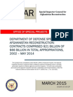 SIGAR report March 2015