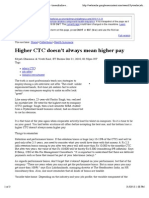 Higher CTC Doesn't Always Mean Higher Pay - Timesofindia-economictimes