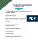Criterios y Desarrollo de Las Partes de La Oposicion (Modelos 1,2,3 de Evaluacion)