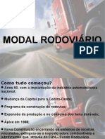 Apresentação sobre o sistema de transporte rodoviário brasileiro