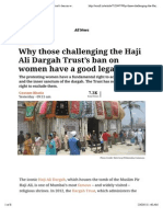 Why Those Challenging the Haji Ali Dargah Trust's Ban on Women Have a Good Legal Case
