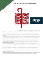 Las Elecciones, Exigencia y Compromiso Ciudadano. 18.3.2015. CEA