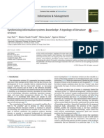 2015 Synthesizing Information Systems Knowledge, A Typology of Literature Reviews