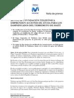 Boletín_Telefonica emprende campaña de ayuda para Haiti