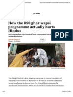 How the RSS Ghar Wapsi Programme Actually Hurts Hindus