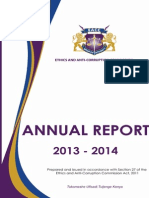 Annual Corruption Report 2013-2014
