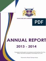 Annual Corruption Report 2013-2014