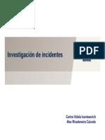 14 Investigación de Incidentes