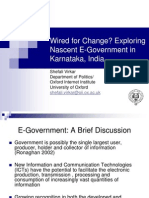 Wired for Change? Exploring Nascent eGovernment Initiatives in Karnataka, India