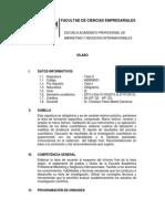 UDH Sílabo 2015-I, Tesis II