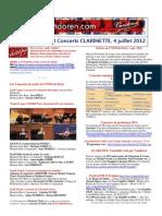 Vandoren Infos Et Concerts CLARINETTE 4 Juillet 2012