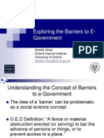 Exploring the Barriers to E-Government