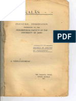 Kalaas Dissertation of Dr.A.Venkatasubbiah 1911