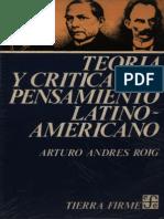 teoria y crítica del pensamiento latinoamericano
