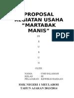 Proposal Membuat Usaha Kecil Martabak Manis