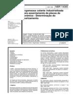 NBR 14085-1998 - Argamassa Colante Industrializada Para Assentamento de Placas de Cerâmica - Determinação Do Deslizamento