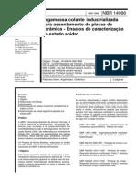NBR 14086-1998 - Argamassa Colante Industrializada Para Assentamento de Placas de Cerâmica - Ensaios de Caracterização No Estado Anidro