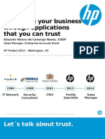 Improving Your Business Through Applications That You Can Trust - HP Protect 2014