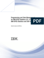 Programming and Data Management for IBM SPSS Statistics 20