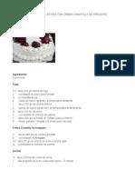Torta de Tres Leches Con Crema Chantilly de Arequipe