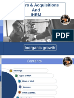 Merger & Acquisition and IHRM