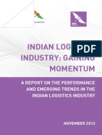 Indian Logistics Industry Gaining Momentum