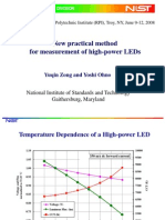 A Practical Method for Measurement of High-power LEDs