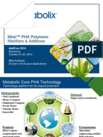 Metabolix - Mirel® PHA Polymeric Modifiers and Additives