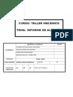 Informe de Taller Mecanico de Almacen