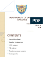 Measurement of exhaust