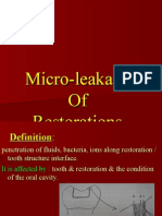 (40)33''Micro Leakage of Restorations