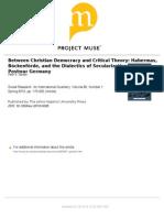Gordon Habermas Bockenforde and the Dialectics of Secularization 2013