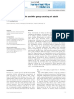 PAPER Nutrition in Early Life and the Programming of Adult Disease a Review Ene 2015