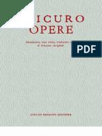 """Epicuro, """"Opere"""""""