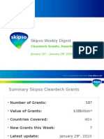 Cleantech Grants, Awards, Incentives - Weekly Update (29th Jan 2010)