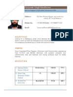 New Resume format