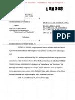 Siddqui/Velentzas Terror Complaint