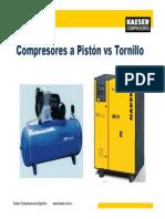 Comparativa Tornillo vs Piston