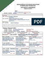 acert 2015 conference program