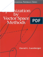 Optimization with Vector Space Methods