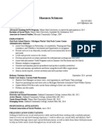 shannon internship resume masters program