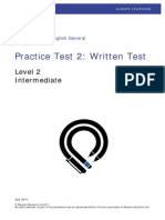 PTE General Written Test Level 2
