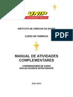 UNIP Manual de Atividades Complementares FARMÁCIA 2013-14