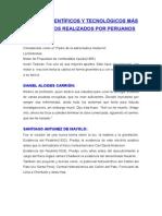 Aportes Científicos y Tecnológicos de peruanos
